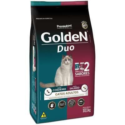 Ração Golden Duo para Gatos Adultos Cordeiro e Salmão