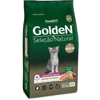 Ração Golden Seleção Natural para Gatos Filhotes Frango e Arroz