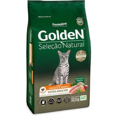 Ração Golden Seleção Natural para Gatos Adultos Frango e Arroz