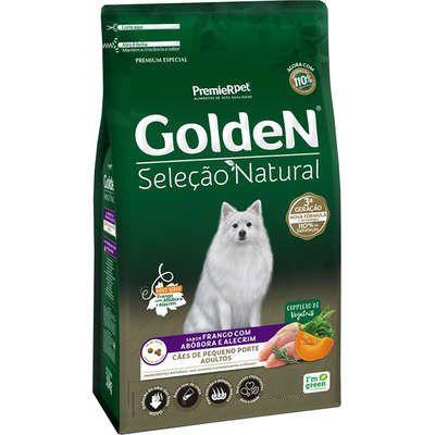Ração Golden Seleção Natural para Cães Adultos Mini Bits Porte Pequeno Frango com Abóbora e Alecrim