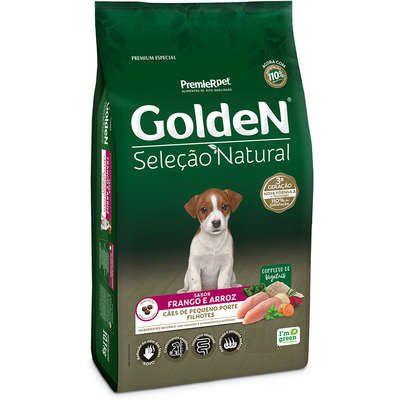 Ração Golden Seleção Natural para Cães Filhotes Porte Pequeno Mini Bits Frango e Arroz