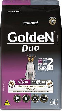Ração Golden Duo para Cães Adultos Salmão e Cordeiro Mini Bits Porte Pequeno 3kg