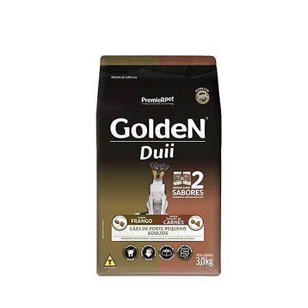 Ração Golden Duii para Cães Adultos Carne e Frango Mini Bits Porte Pequeno  3kg