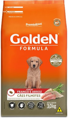 Ração Golden Formula para Cães Filhotes Frango e Arroz