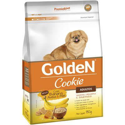 Biscoito Golden Cookie para Cães Adultos Banana, Aveia e Mel 350g