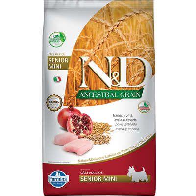Ração ND N&d Ancestral Grain Low Grain para Cães Sênior Mini Frango Raças Pequenas
