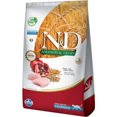 Ração ND N&d Ancestral Grain Low Grain para Gatos Adultos Castrados Frango