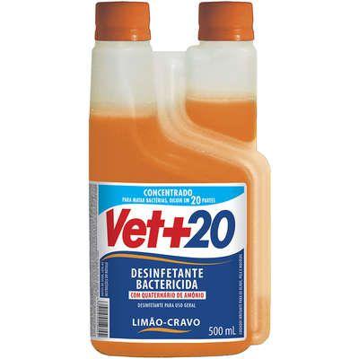 Desinfetante Vet+20 Vetmais 20 Concentrado Limão Cravo