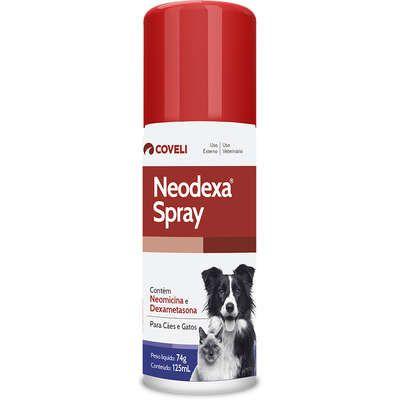 Antibiotico Neodexa Spray para Cães e Gatos 74g 125mL
