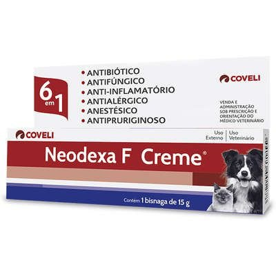 Antibiotico Neodexa Creme para Cães e Gatos 15g