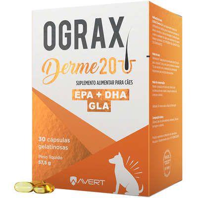 Suplemento Avert Ograx Derme 20 para Cães 30 Capsulas 57,5g