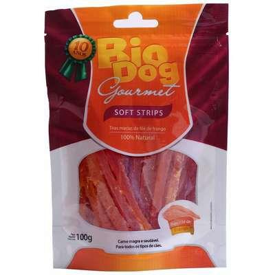 Petisco Bio Dog Gourmet Soft Strip Sabor Frango para Cães 100g