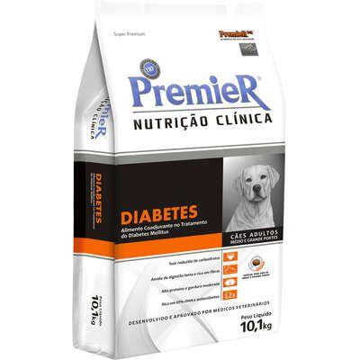 Ração Premier Nutrição Clínica para Cães  Médio e Grande Portes Diabetes 10,1kg