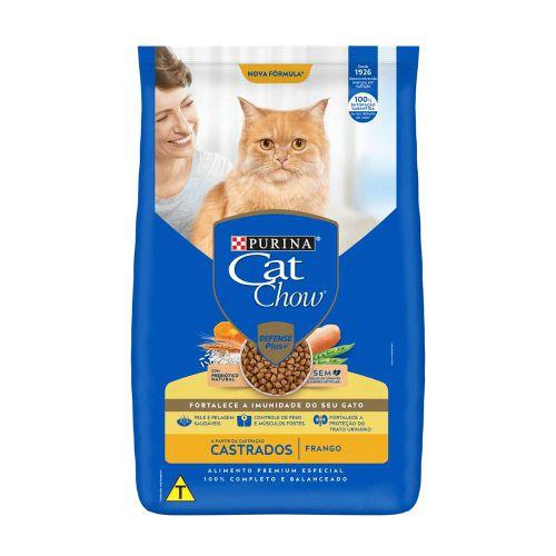 Cat Chow Defense Plus Adulto e Filhote Castrados