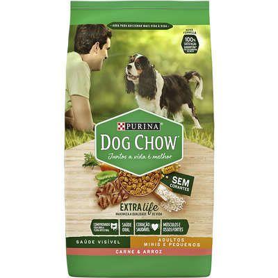 Dog Chow Extra Life Adulto Mini e Pequeno Carne