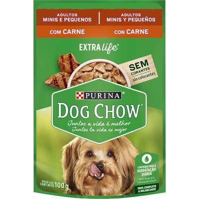 Dog Chow Sachê Câes Adultos Minis e Pequenos Carne 100g