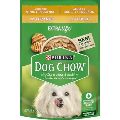 Dog Chow Sachê Câes Adultos Minis e Pequenos Frango 100g