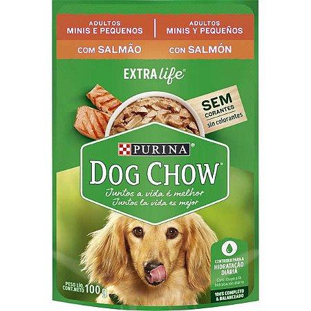 Dog Chow Sachê Câes Adultos Minis e Pequenos Salmão 100g