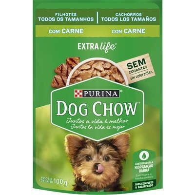 Dog Chow Sachê Câes Filhotes Carne 100g