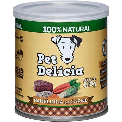 Ração Úmida Pet Delícia  Natural Panelinha de Carne Para Cães