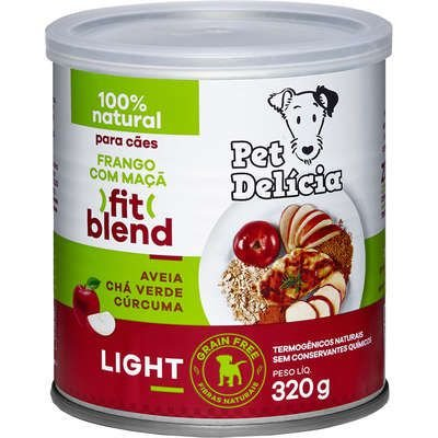 Ração Úmida Pet Delícia Natural Frango com Maçã Fit Light Para Cães 320g