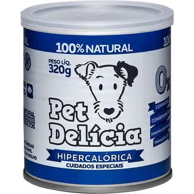 Ração Úmida Pet Delícia Natural Dieta Hipercalórica Para Cães 320g