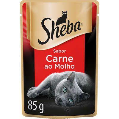 Ração Úmida Sheba Sachê Cortes Selecionados Sabor Carne ao Molho para Gatos Adultos