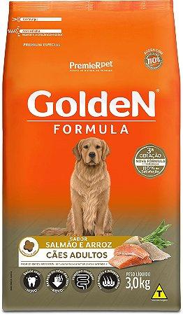 Ração Golden Formula para Cães Adultos Salmão e Arroz