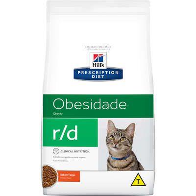 Ração Hill's Prescriptions Diet r/d para Gatos Adultos Obesos - Redução de peso 1,8kg