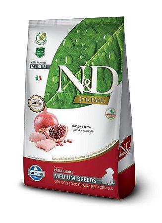Ração ND N&d Prime Grain Free para Cães Filhotes Frango Medium Breeds Raças Médias 10kg