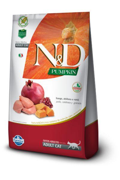 Ração ND N&D Pumpkin Grain Free para Gatos Adultos Frango