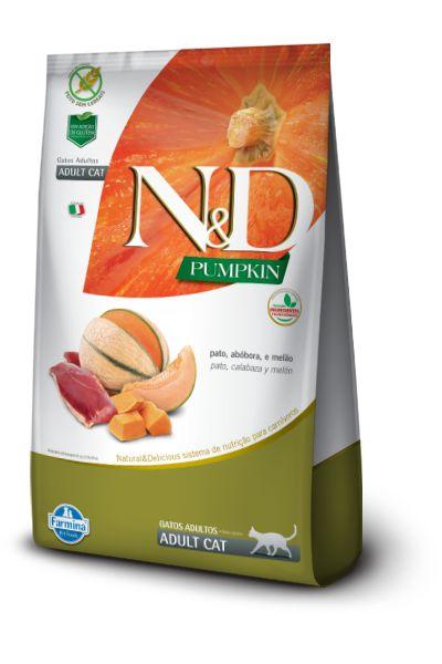 Ração ND N&D Pumpkin Grain Free para Gatos Adultos Pato
