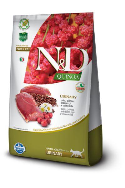 Ração ND N&D Quinoa Grain Free para Gatos Urinary Adultos Pato