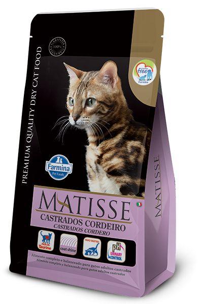 Ração Matisse para Gatos Adultos Castrados Cordeiro