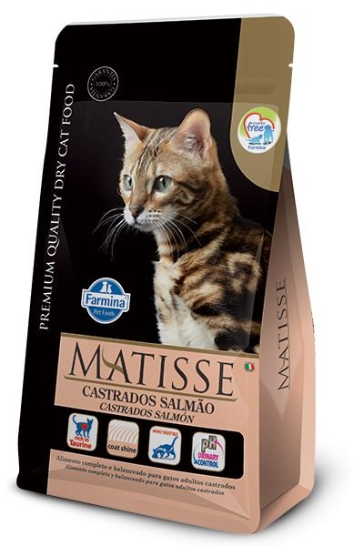 Ração Matisse para Gatos Adultos Castrados Salmão