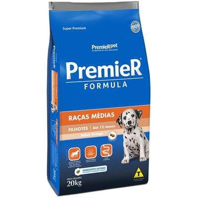 Ração Premier Formula para Cães Filhotes Raças Médias Sabor Frango 20kg