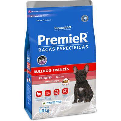 Ração Premier Raças Específicas para Cães Filhotes Bulldog Francês Sabor Frango