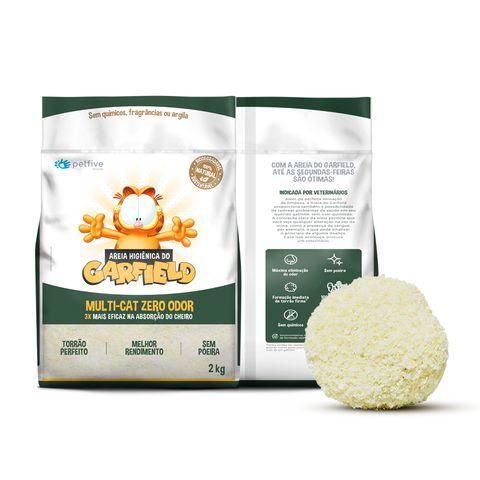 Areia Higienica Garfield Biodegradavel Fina para Gatos 2kg
