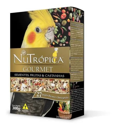 Ração Nutrópica Calopsita Gourmet Sementes ,Frutas e Castanhas