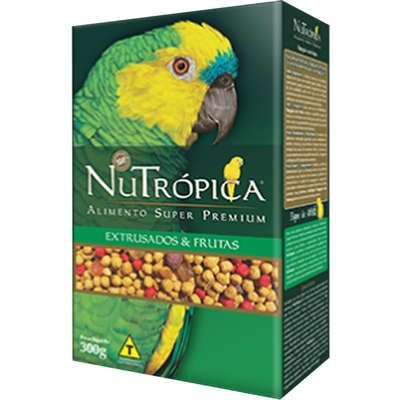 Ração Nutrópica Extrusados e Frutas para Papagaio
