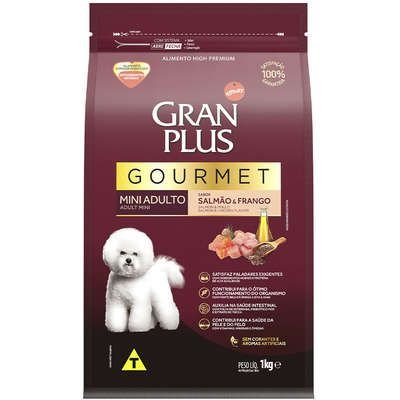Ração Affnity Gran Plus Gourmet para Cães Mini Adultos Sabor Salmão e Frango