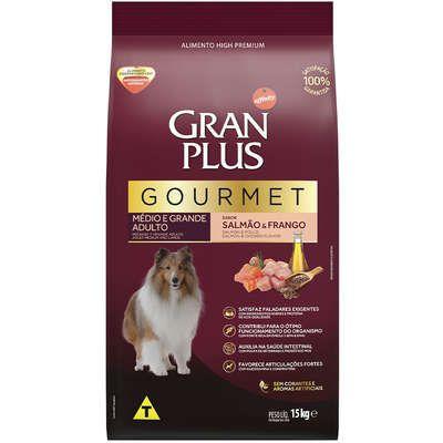 Ração Affnity Gran Plus Gourmet para Cães Médios e Grandes Adultos Sabor Salmão e Frango 15kg
