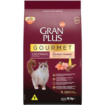 Ração Affnity Gran Plus Gourmet para Gatos Castrados Adultos Sabor Salmão e Frango