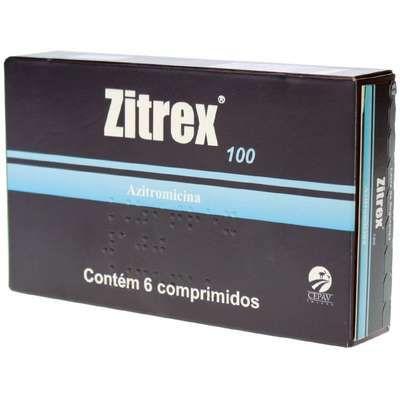 Antimicrobiano Zitrex 100mg para Cães e Gatos 6 Comprimidos