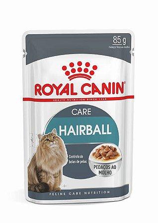 Ração Úmida Royal Canin Sachê para Gatos Adultos Hairball