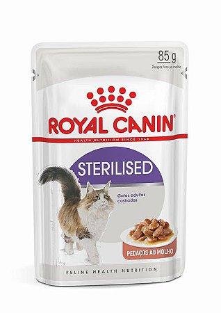 Ração Úmida Royal Canin Sachê para Gatos Adultos Sterilised