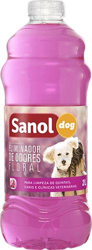 Eliminador de Odor Sanol Dog Floral 2Litros