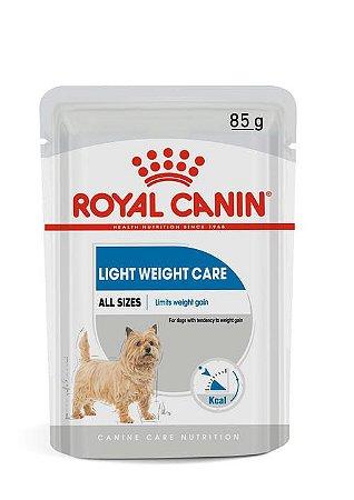 Ração Úmida Royal Canin Sache para Cães Adultos de Todas as Raças Light Weight Care 85g
