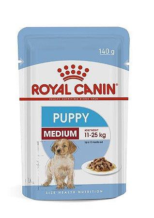 Ração Úmida Royal Canin Sache para Cães Filhotes Raças Médias Medium Puppy 140g