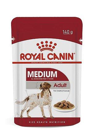 Ração Úmida Royal Canin Sache para Cães Adultos Raças Médias Medium Adult 140g